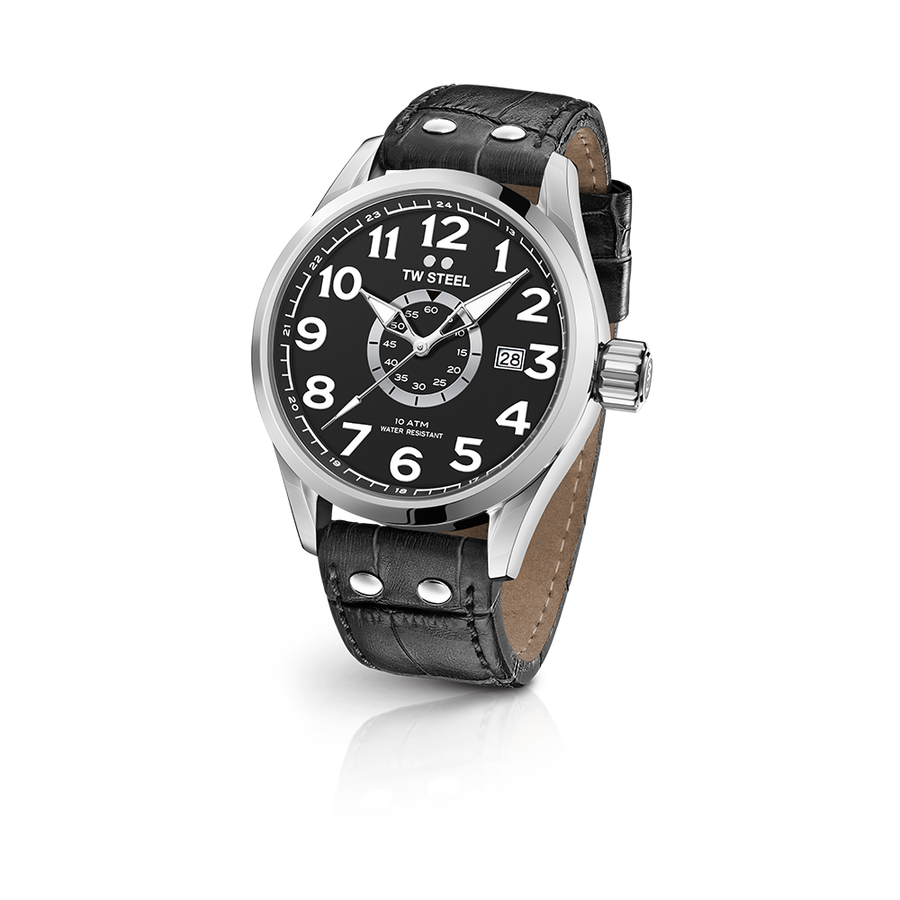 TW Steel Steel Leather Volante 45mm front view