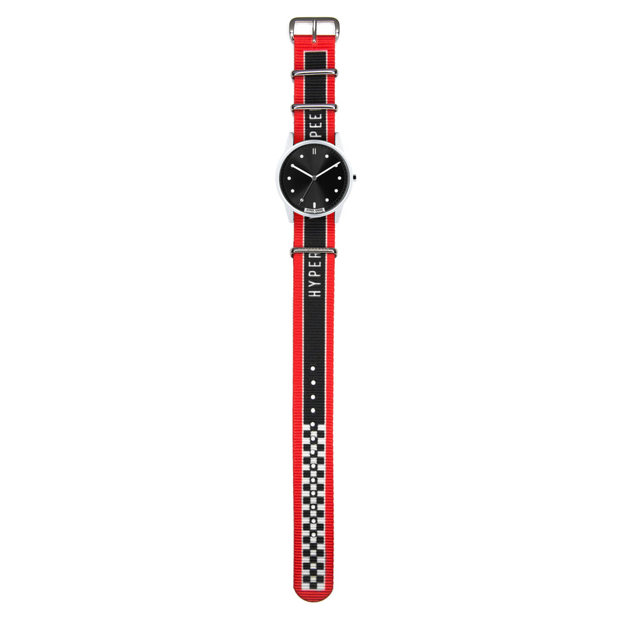 Hypergrand 01NATO Warp Race Red 38mm Full View