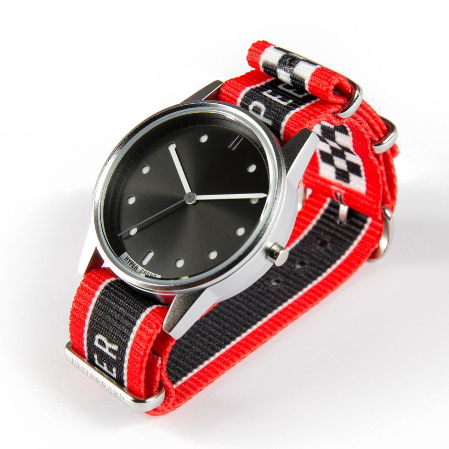 Hypergrand 01NATO Warp Race Red 38mm Side View