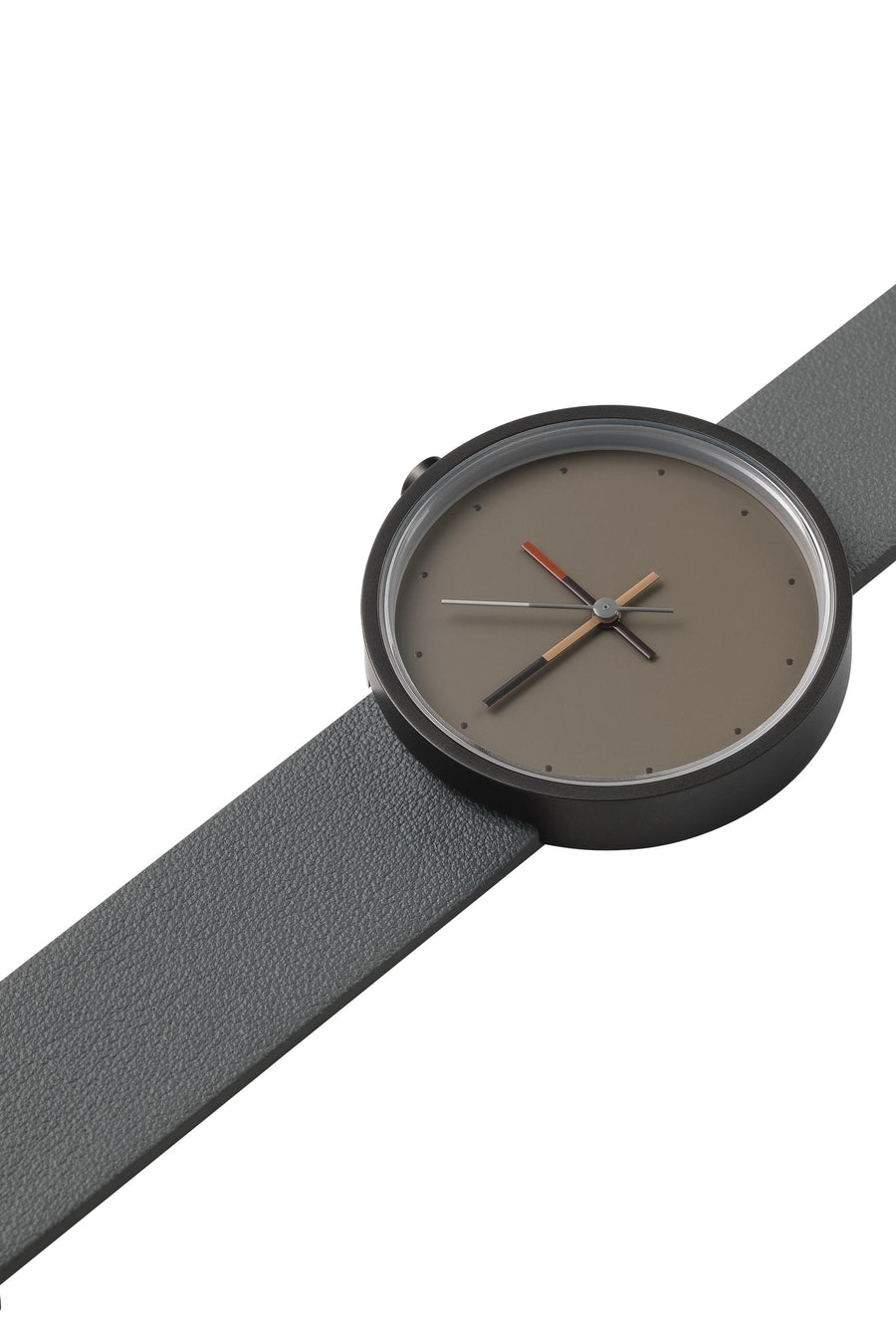 AÃRK Collective Accent Ash Grey Steel Leather 36mm Top View 2