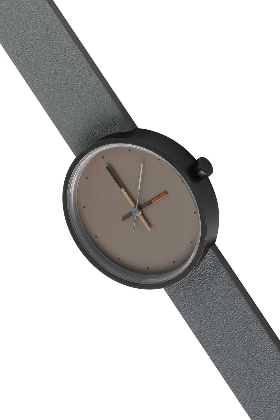 AÃRK Collective Accent Ash Grey Steel Leather 36mm Top View