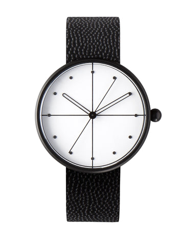 AÃRK Watch, Dome - Black, Front View