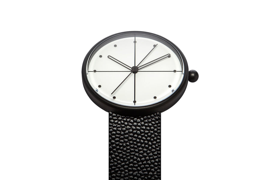 AÃRK Watch, Dome - Black, Top View