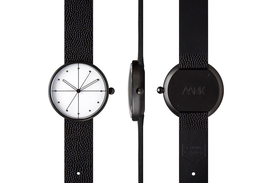 AÃRK Watch, Dome - Black, Full View