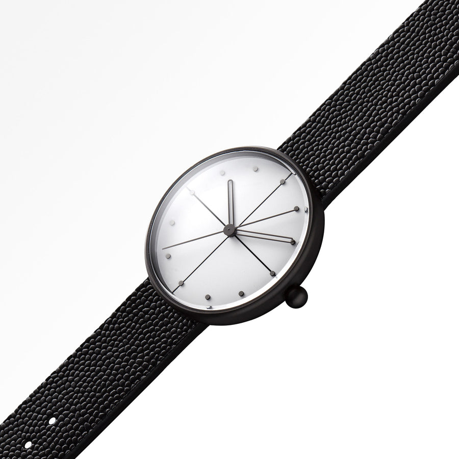AÃRK Watch, Dome - Black, Top View 2