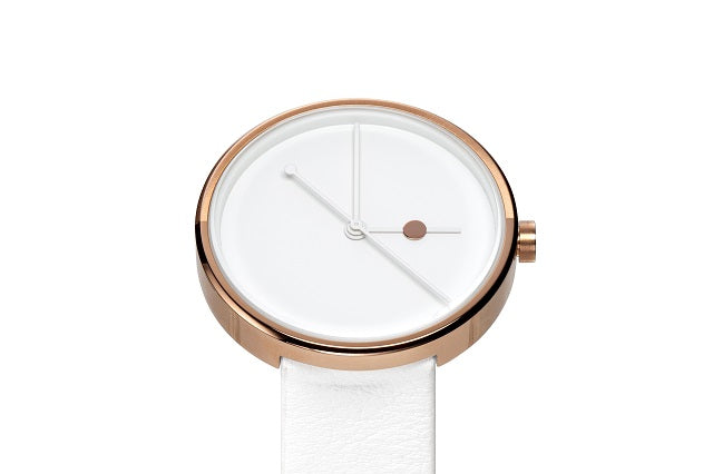AÃRK Watch, Eclipse - Rose, Top View