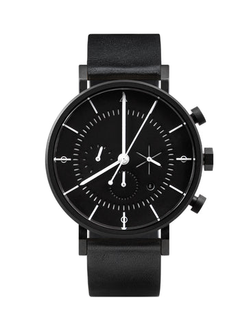 AÃRK Watch, Eon - Black, Front View