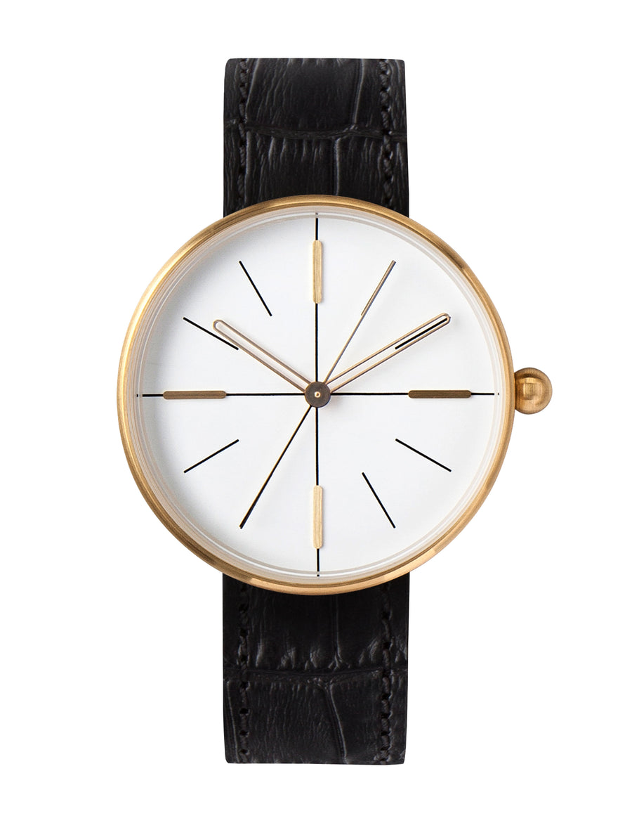 AÃRK Watch, Dome - Gold, Front View