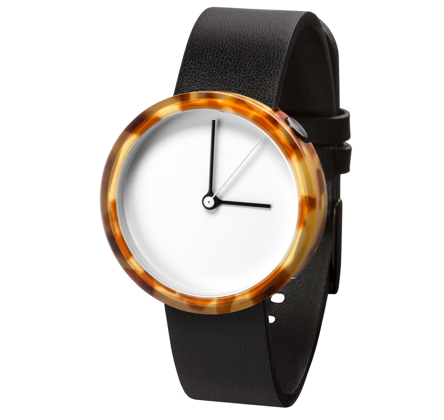 AÃRK Watch, Prism - Tortoise, Side View