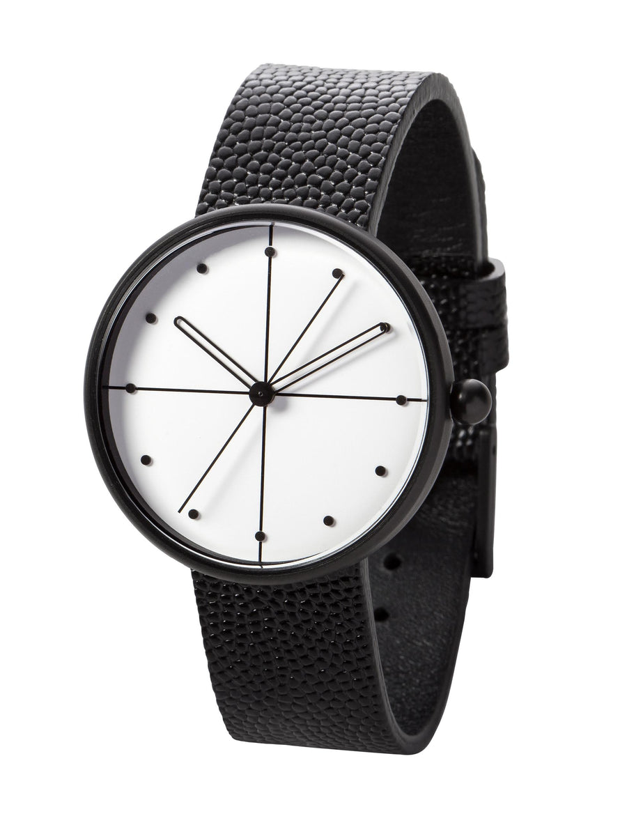 AÃRK Watch, Dome - Black, Side View