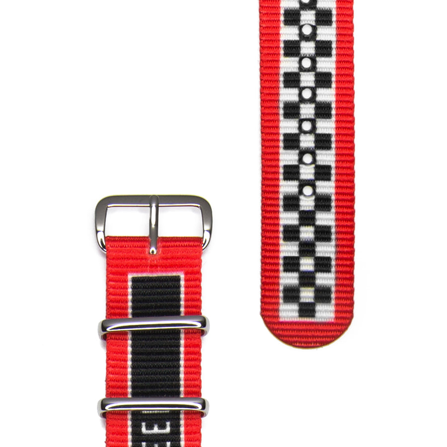 Hypergrand 01NATO Warp Race Red 38mm Strap View 2