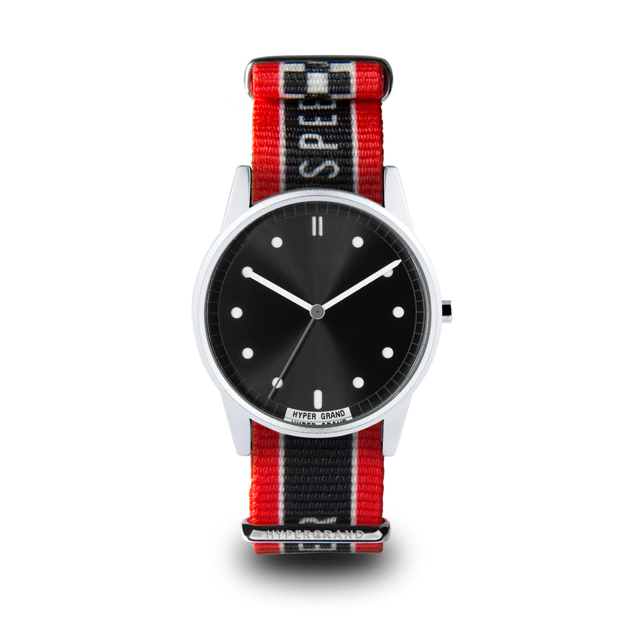 Hypergrand 01NATO Warp Race Red 38mm Front View