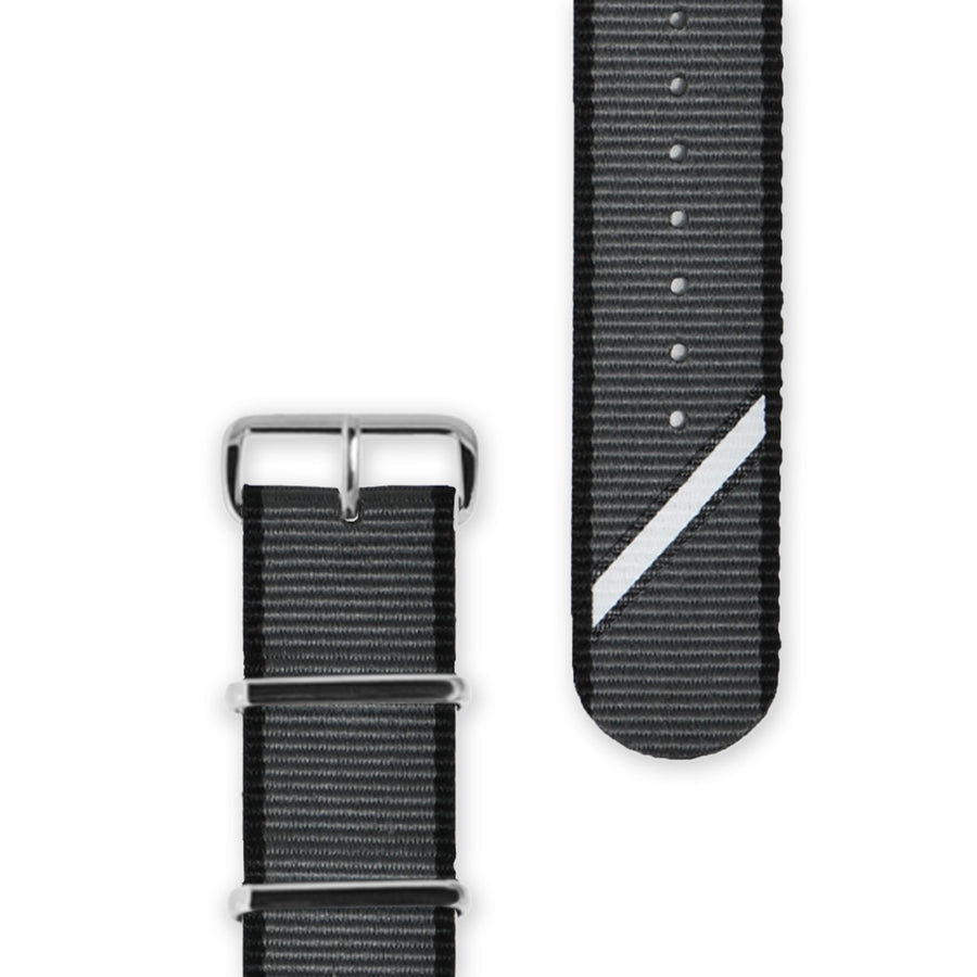 Hypergrand Watch, Chrono SilverBlack - Straight Jacquard Grey, Strap View