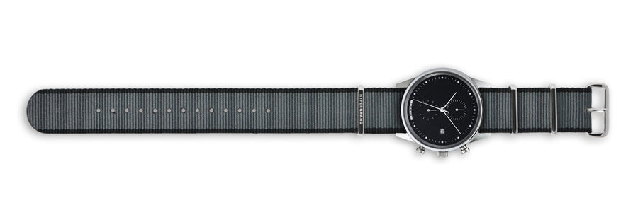 Hypergrand Watch, Chrono SilverBlack - Straight Jacquard Grey, Top View