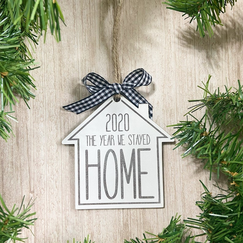 2020 Christmas Ornament - Funny Christmas Ornament 2020 the year we stayed home - Funny christmas ornaments
