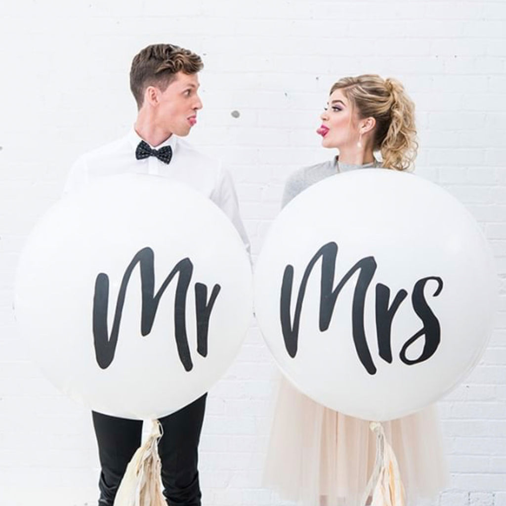 Mr and Mrs Balloons - Wedding Decorations - Wedding Balloons - Pretty Collected
