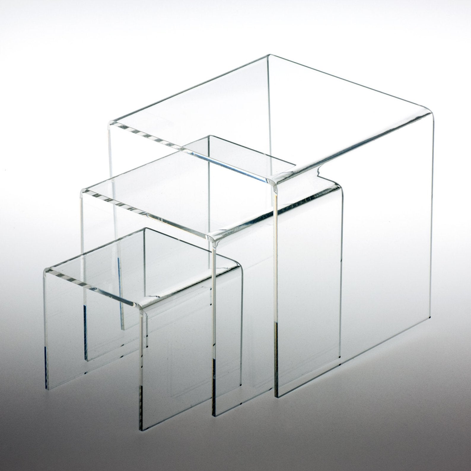 Set of Clear Acrylic Stands for Dessert Bar Decor