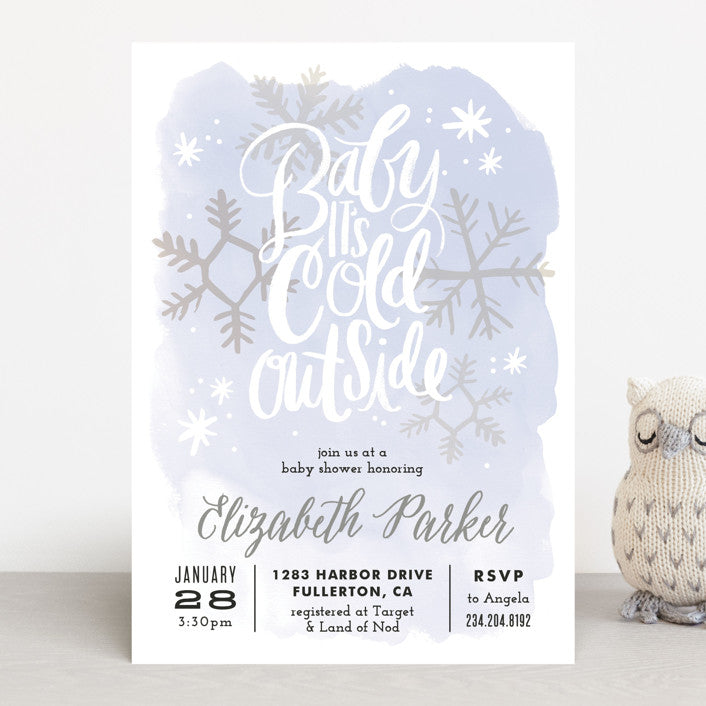 Baby It's Cold Outside Baby Shower Invitation - Winter Baby Shower Theme