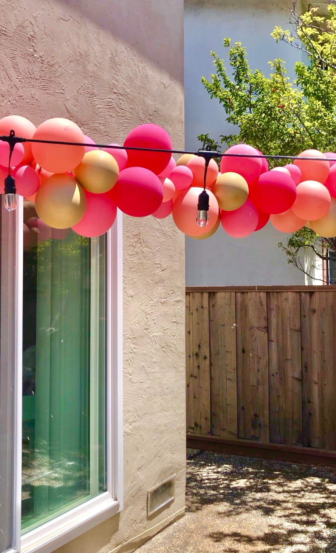 Balloon Garland for Backyard Birthday Decorations - Outdoor Movie Night - Backyard Movie Night Decorations - Pretty Collected