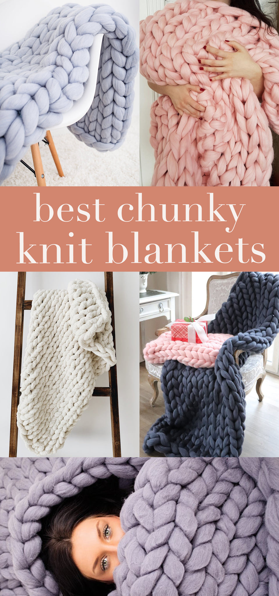 Chunky Knit Blankets - Cozy Fall Blankets - Winter Blanket - Pretty Collected