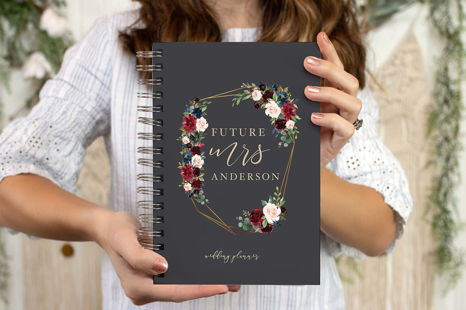 Boho Wedding Planner - Personalized Bride and Groom Wedding Planner