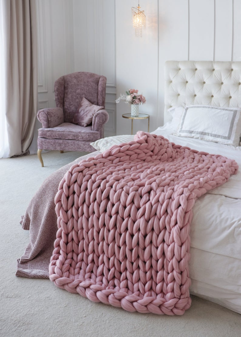 Chunky Knit Blanket, Large Knit Blanket, Cozy Blanket, Knit Blanket, Chunky Blanket, Big Knit Blanket, Wool Hugs, Chunky Knit Throw