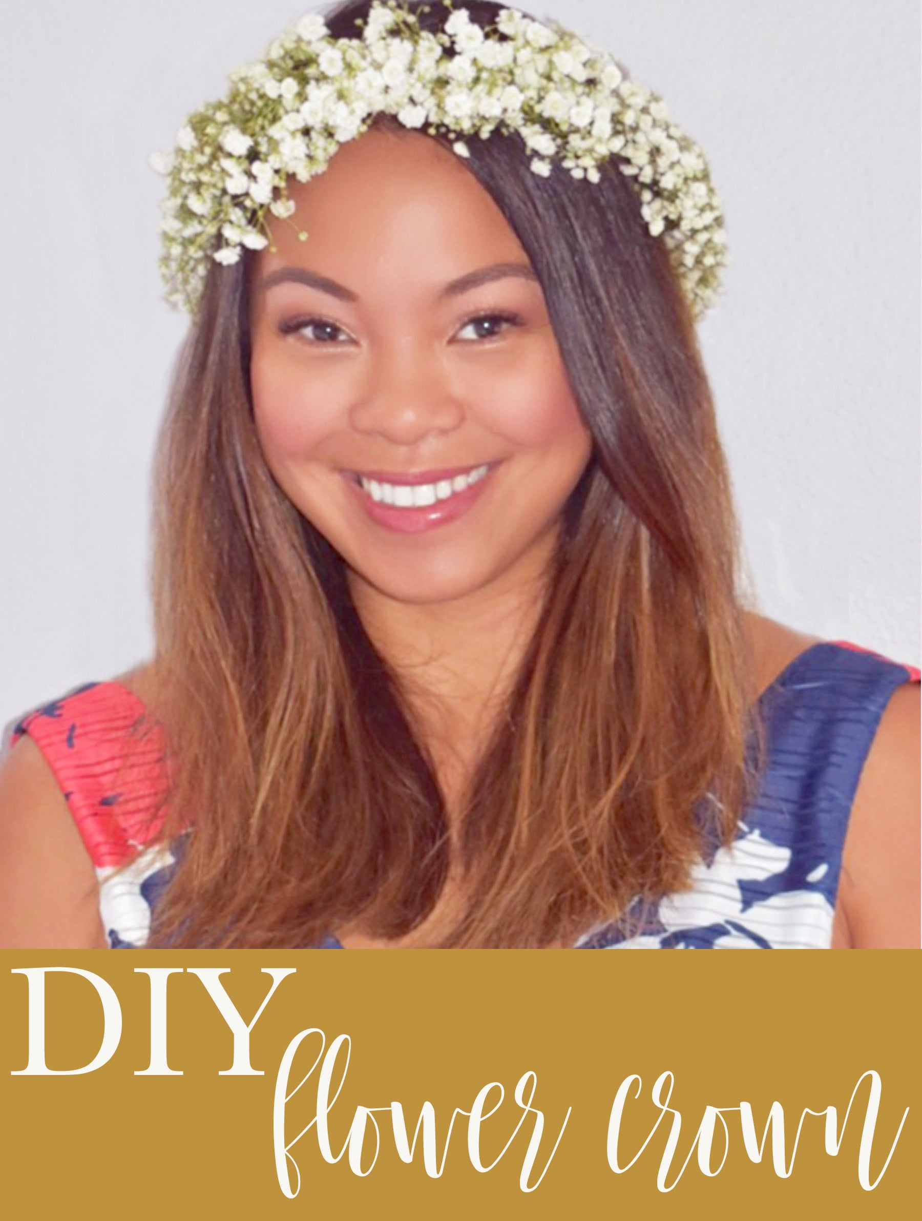DIY Baby's Breath Flower Crown for Bride or Mom-to-Be - Pretty Collected