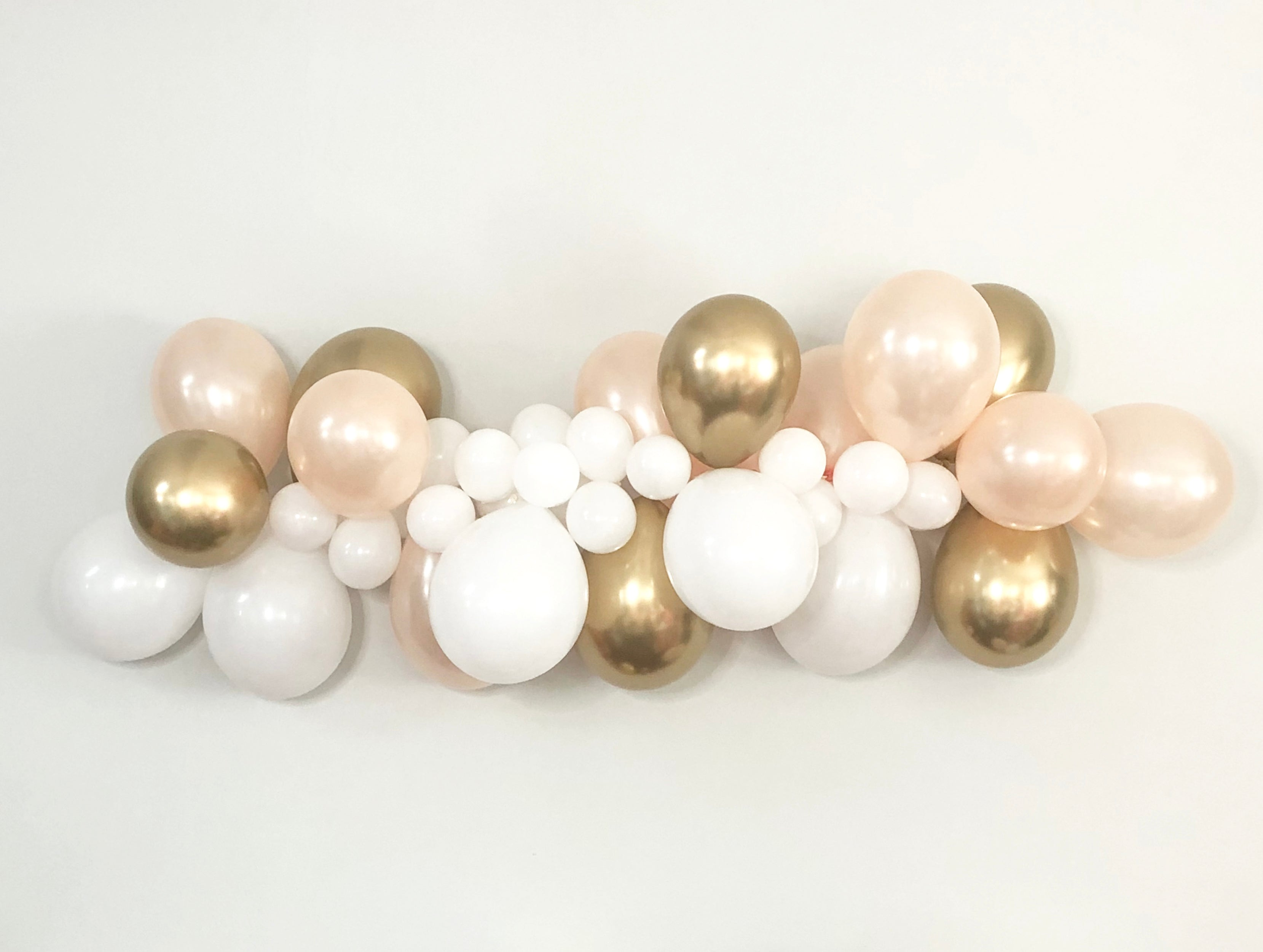 DIY Balloon Garland - Balloon Decorations - Gold Balloon Garland - Pretty Collected