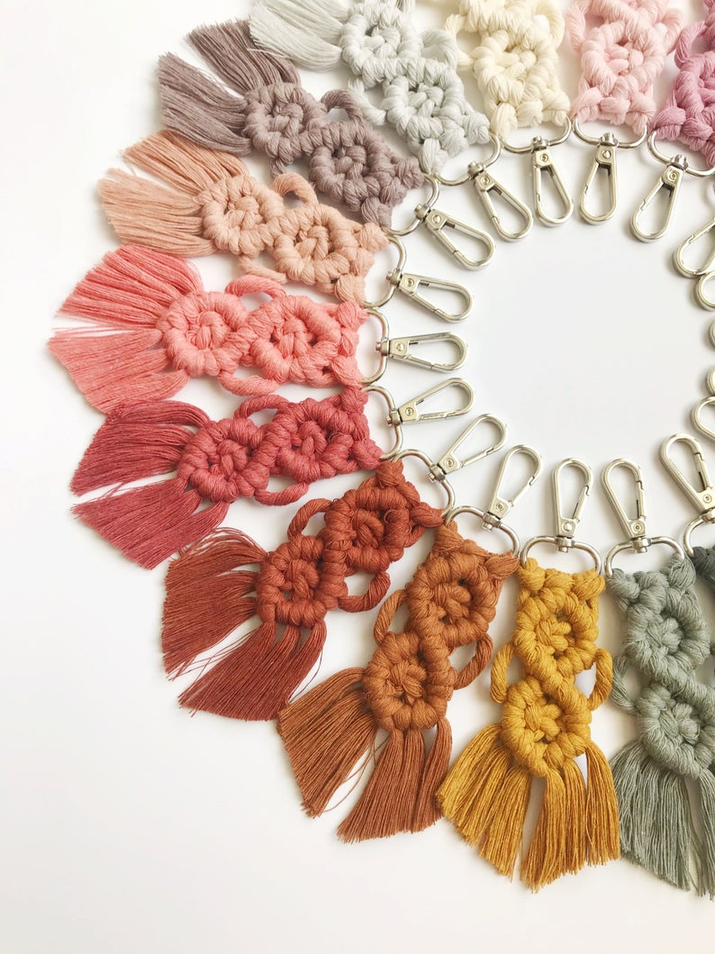 DIY Macrame Keychain Easy Craft Kit, Great for Beginners, Arts and crafts
