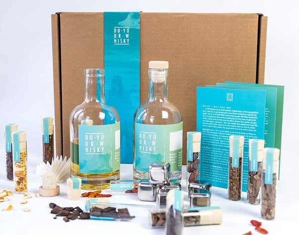 DO YOUR WHISKY - Diy Whiskey Kit Gift Set for Homemade-Whiskey, Alcohol Infusion, Cocktail Set for Mixology