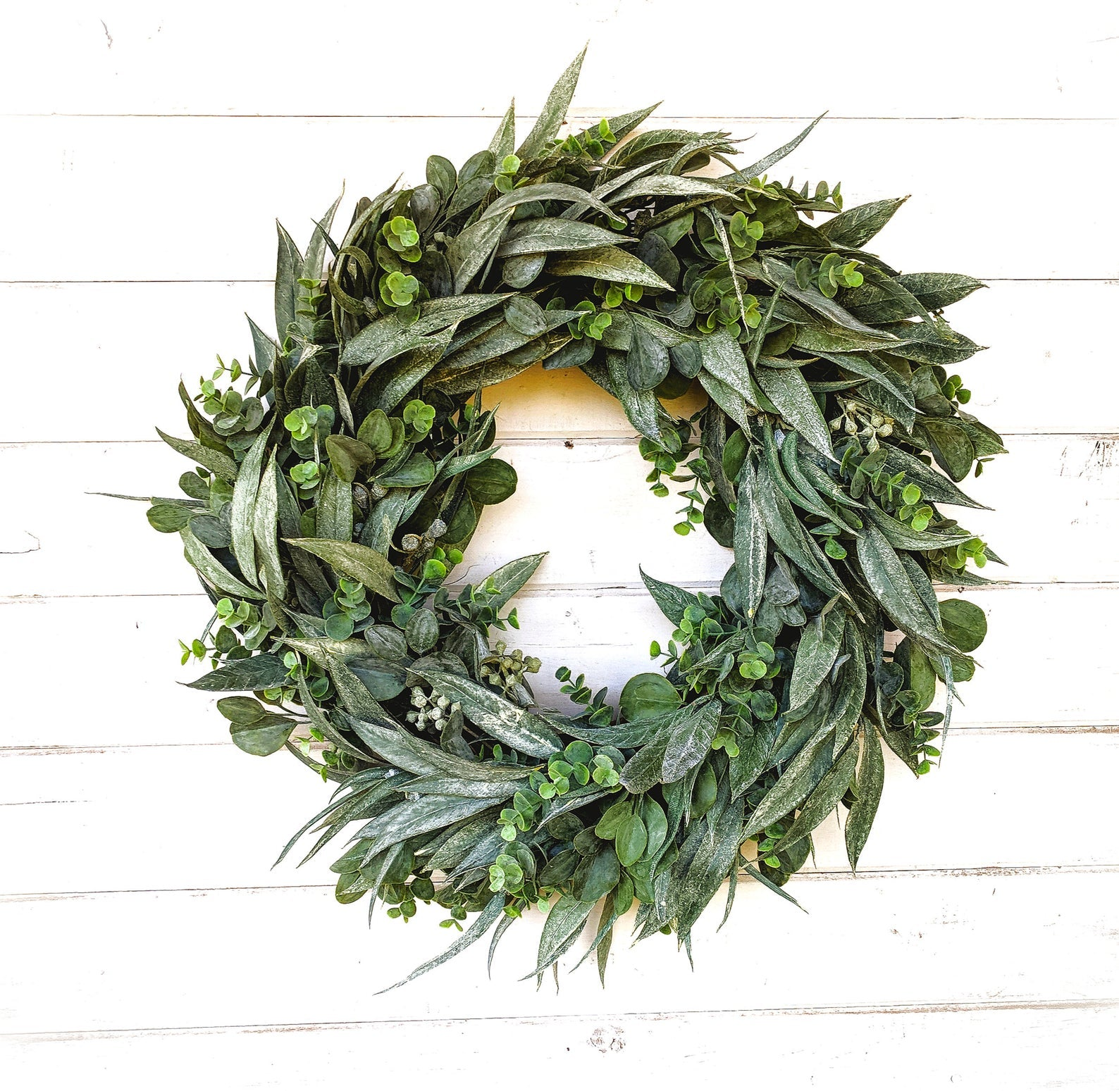 Eucalyptus Farmhouse Wreath - Fall Wreath - Fall Farmhouse Wreath