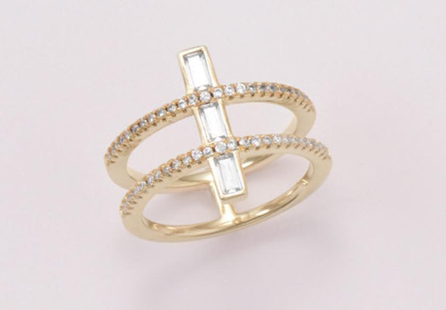 Everly Double Row Ring, Rings, Christmas Gifts, Christmas Gifts for her