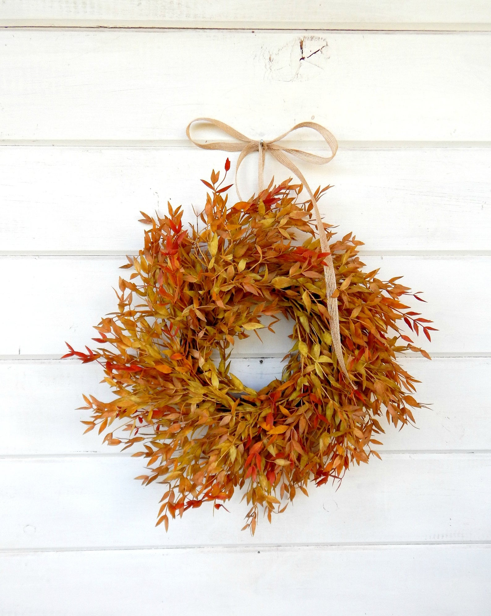 Fall Foliage Wreath - Autumn Wreath - Orange Red and Yellow Wreath
