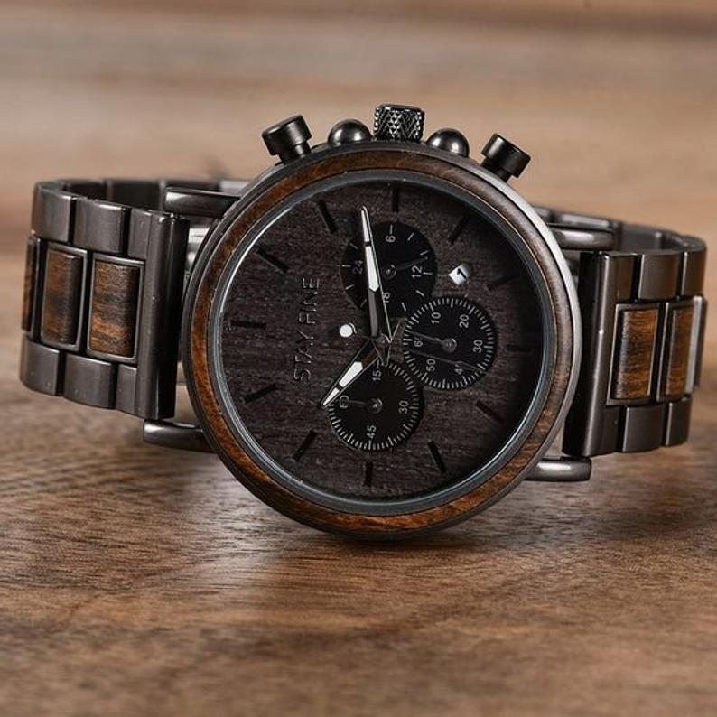 Fathers Day Gift for Him,Wood Watch,Personalized Watch,Engraved Watch,Wooden Watch,Groomsmen Watch,Mens Watch,Boyfriend Gift, Gift for Dad