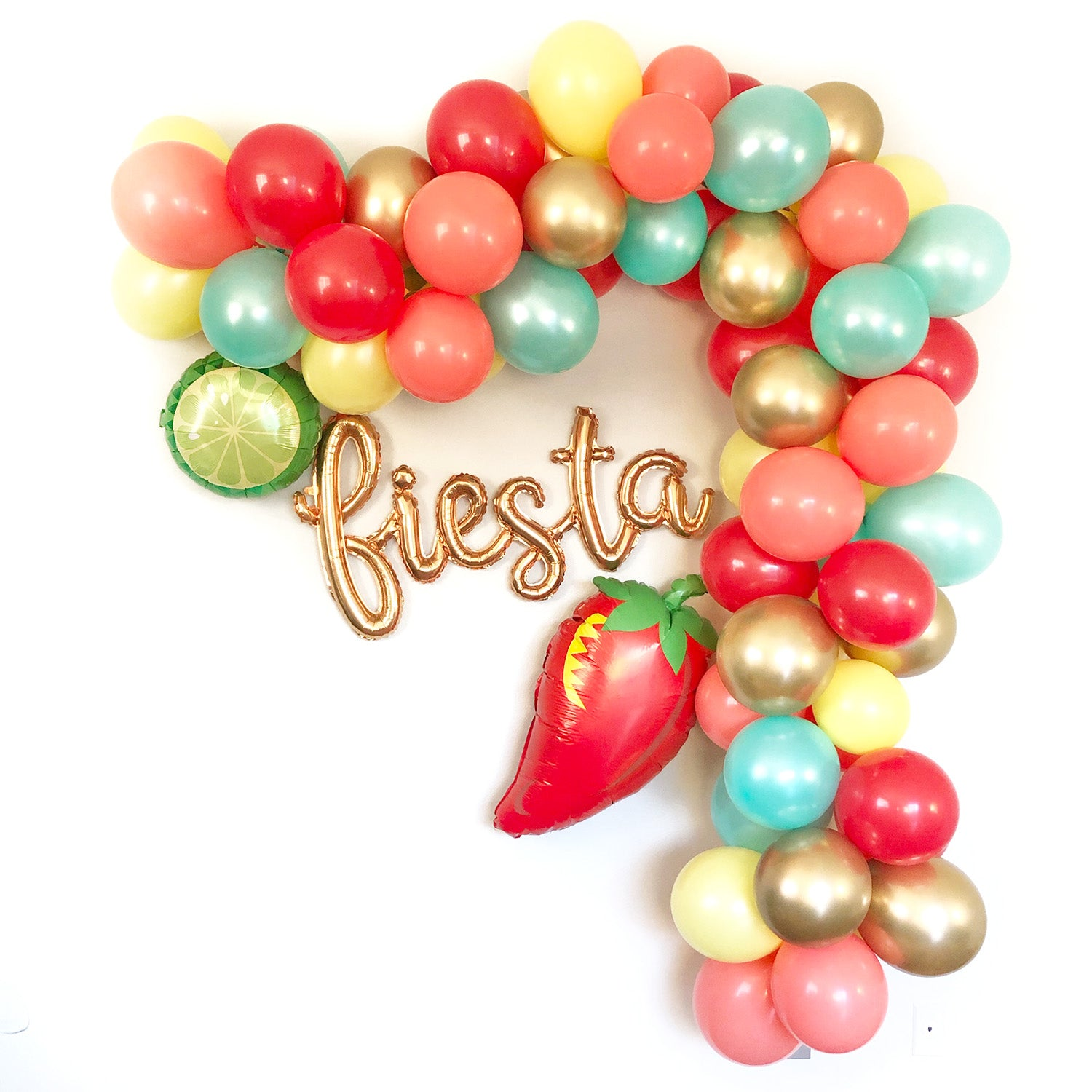 Fiesta Balloon Garland - Fiesta Shower Balloon Garland - Pretty Collected