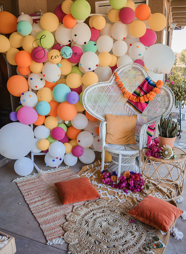 Fiesta Bridal Shower Backdrop - Fiesta Shower Decor - Cinco de Mayo Decorations