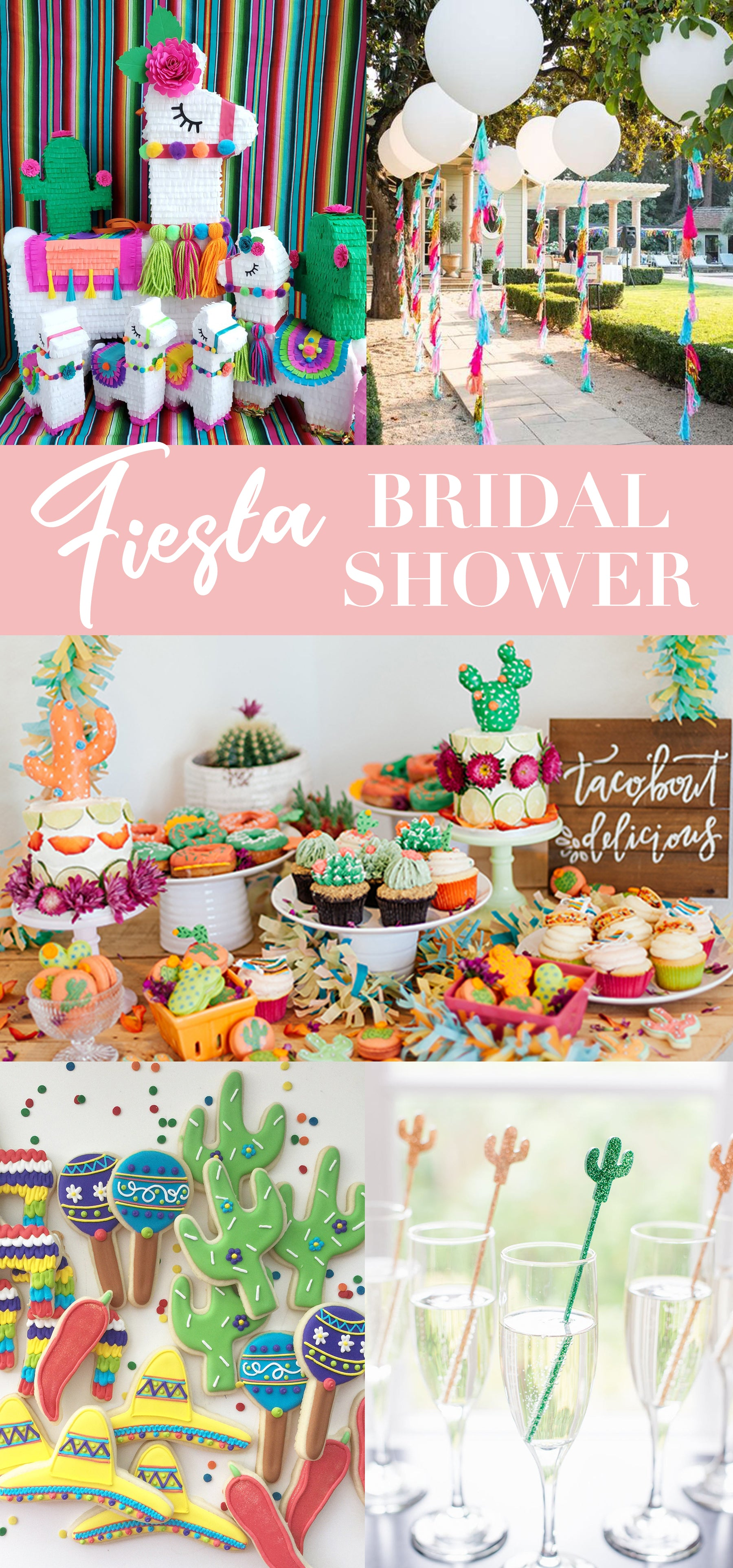Fiesta Bridal Shower Ideas - Fiesta Party Inspiration - Cinco de Mayo Decorations