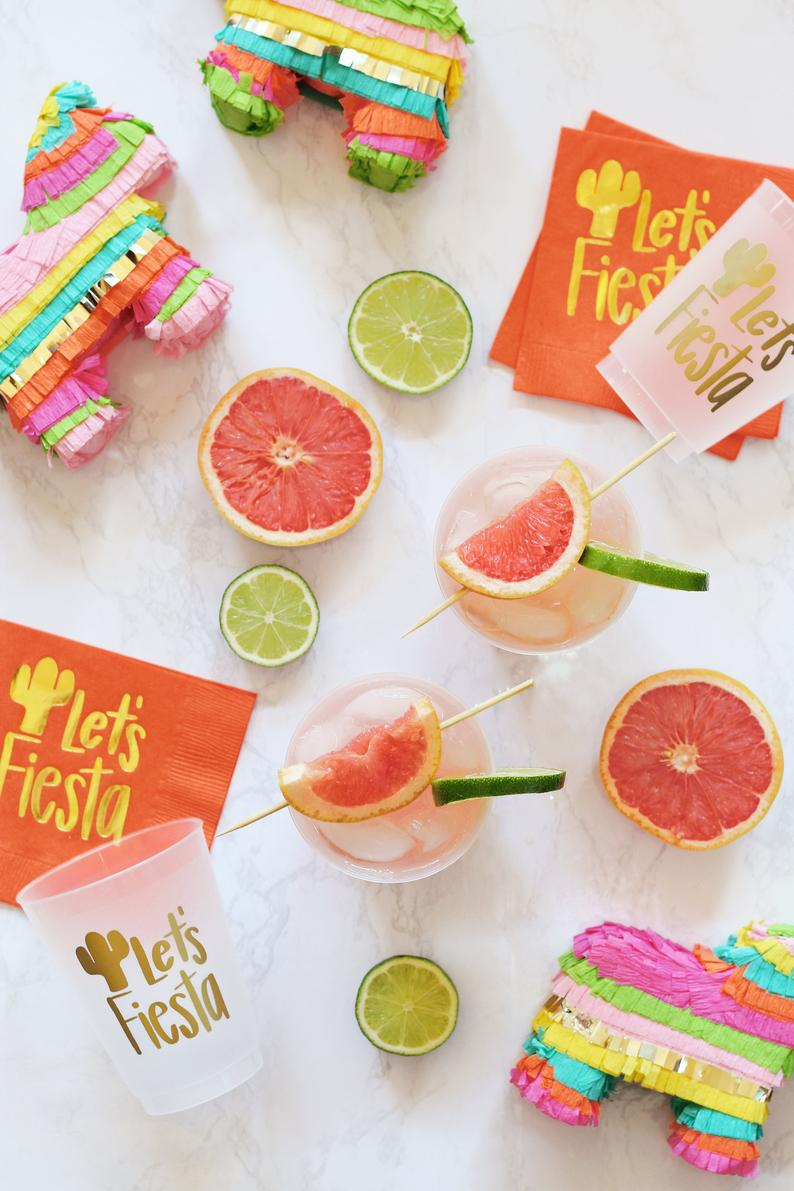 Fiesta Cups - Mexican Themed Birthday - Mexico Bachelorette Party Cups - Cinco De Mayo Decorations - Fiesta Party Favors