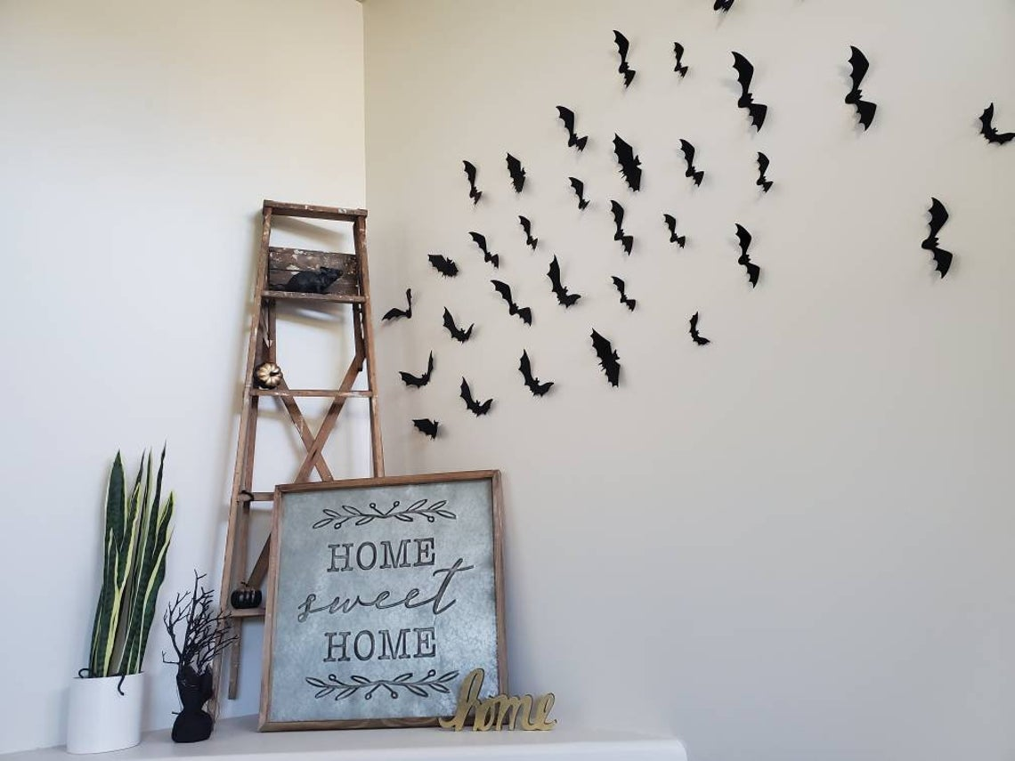 Flying Wall decor - Bats - Halloween Decor - Fall Decor