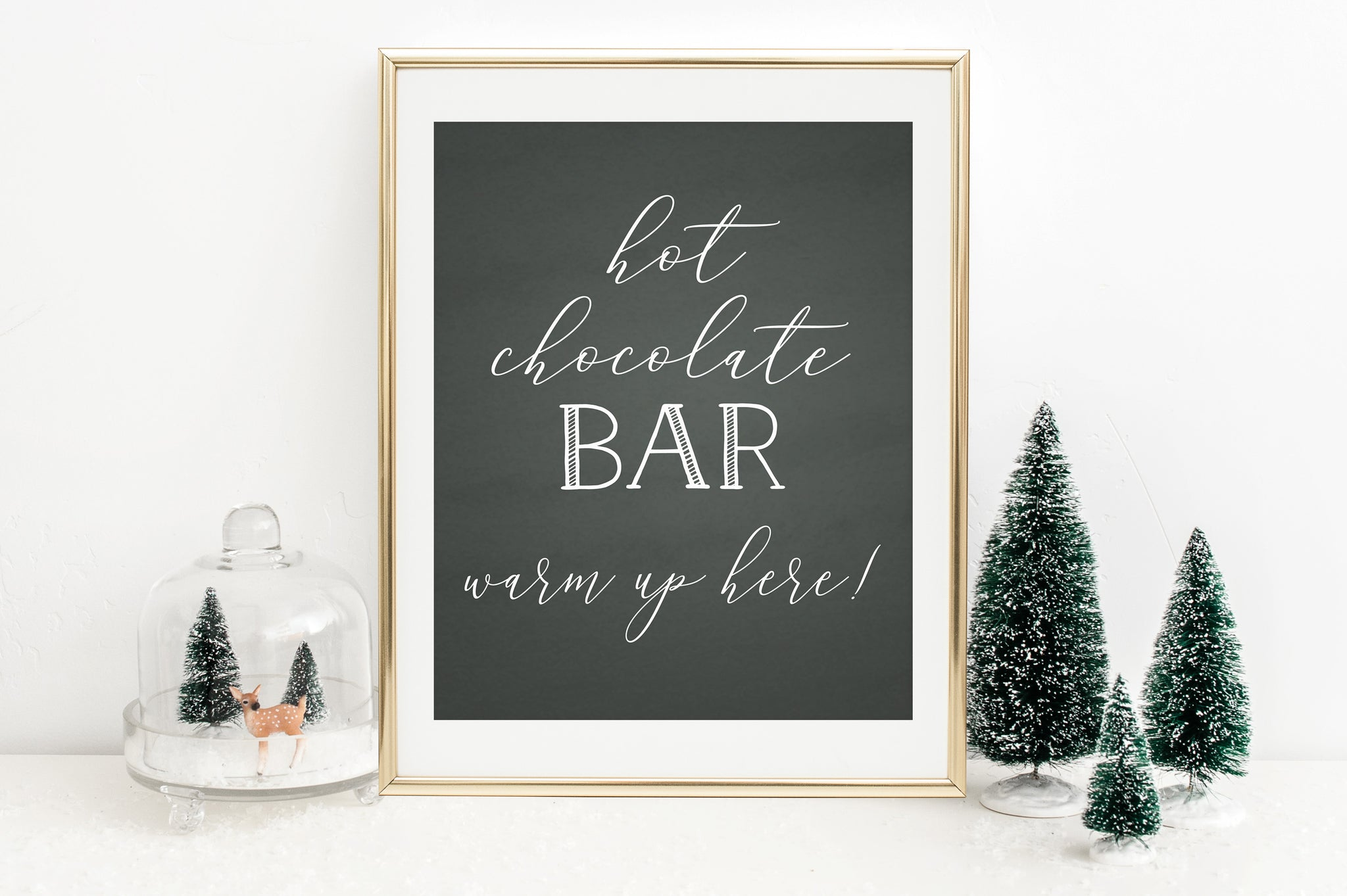 Hot Chocolate Bar Sign Printable - Printable Hot Cocoa Bar Sign - Pretty Collected