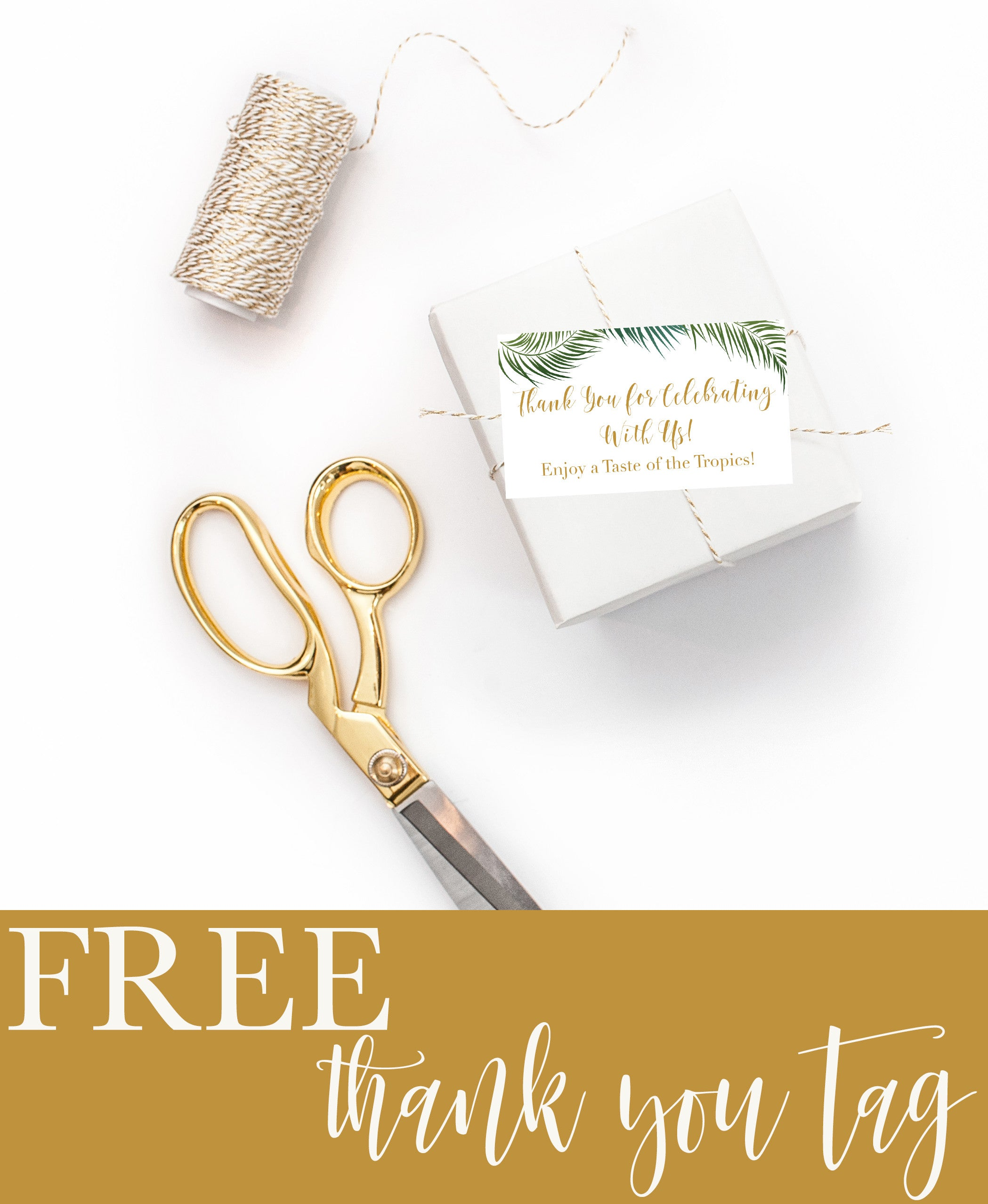 photo regarding Free Printable Thank You Tags referred to as Absolutely free Tropical Thank Yourself Tag Printable - Charming Gathered