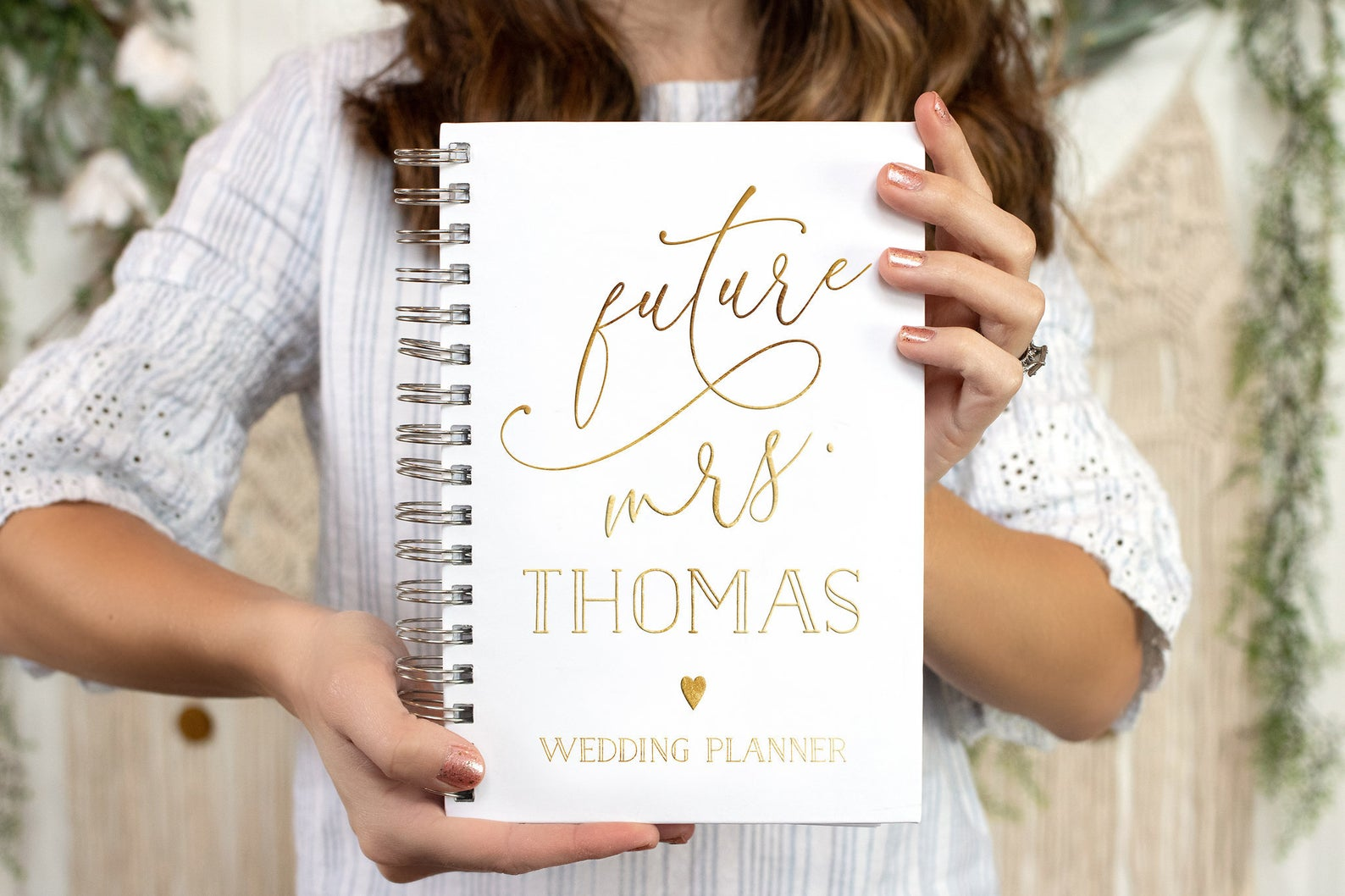 Modern Gold Wedding Planner Book - Wedding Planning Book - Gold Foil Wedding Planner