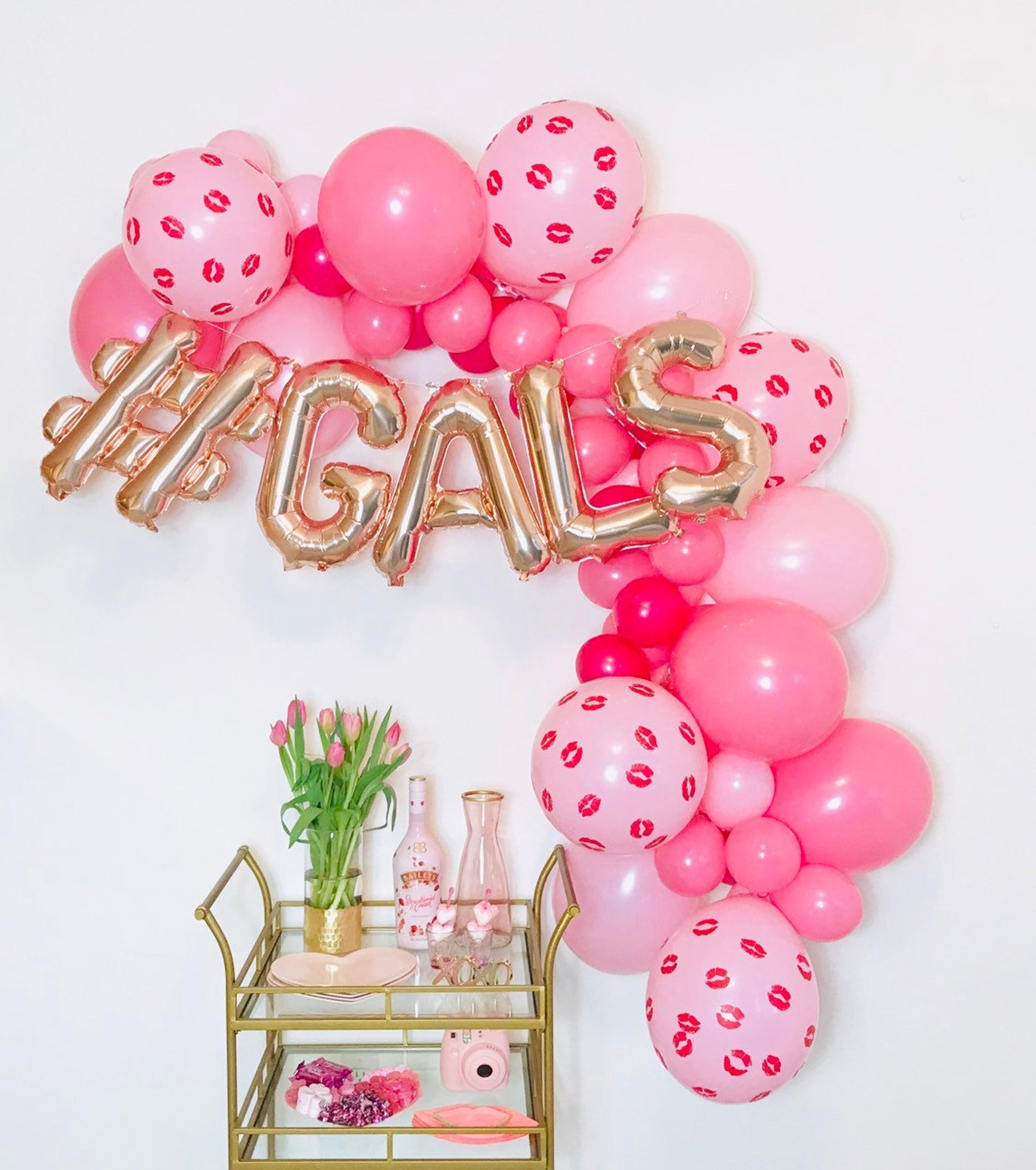 Valentine's Day Party Decorations - #Gals Balloon Garland - Galentine's Decorations