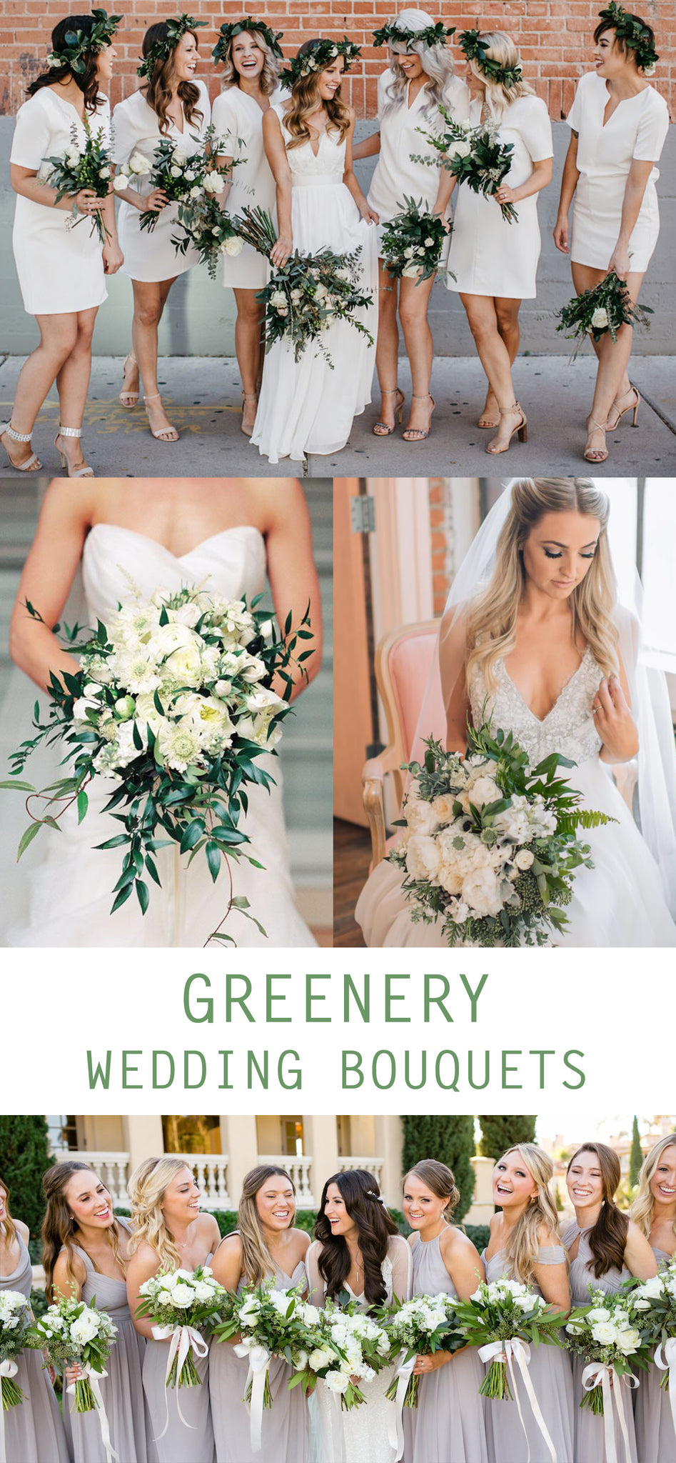 Greenery Wedding Bouquet - Greenery Wedding Decor Ideas - Pretty Collected