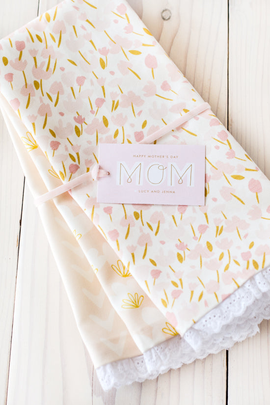 DIY Tea Towel - Handmade Mother's Day Gift Ideas - Pretty Collected