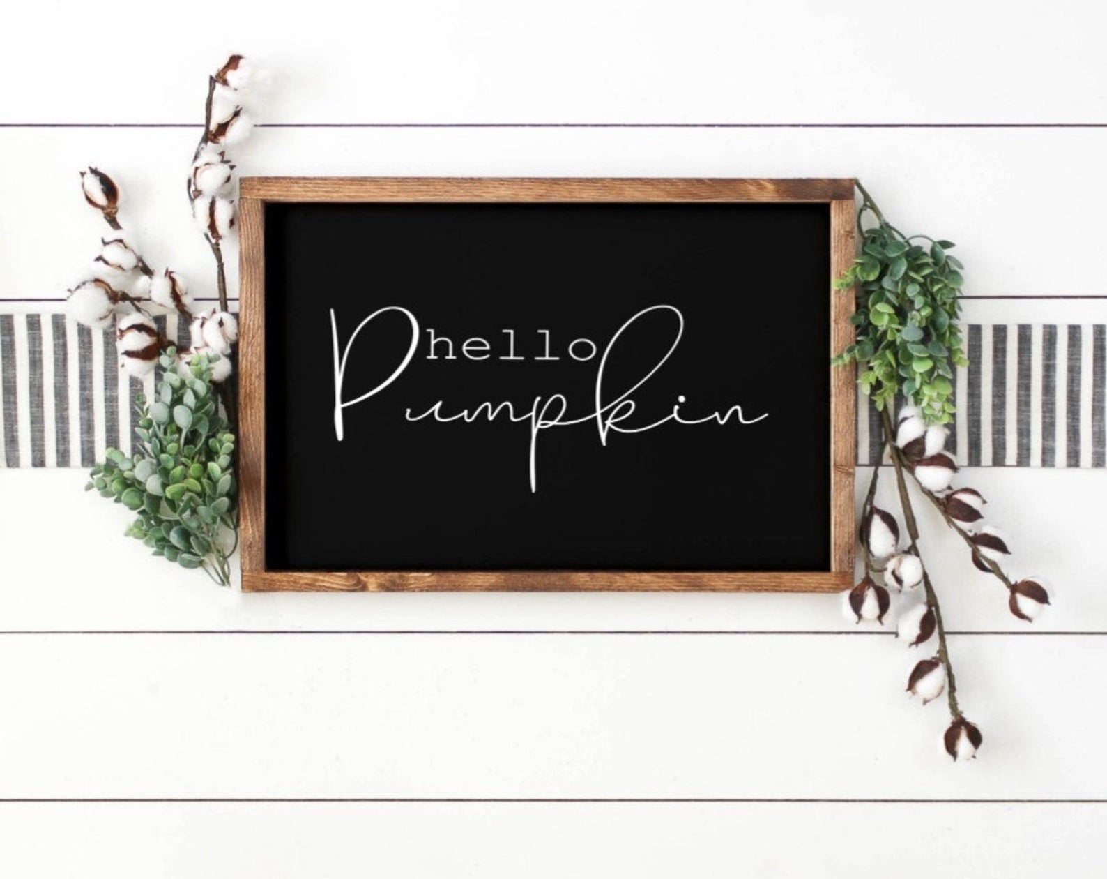 Hello Pumpkin Sign - Fall Sign - Fall Home Decor