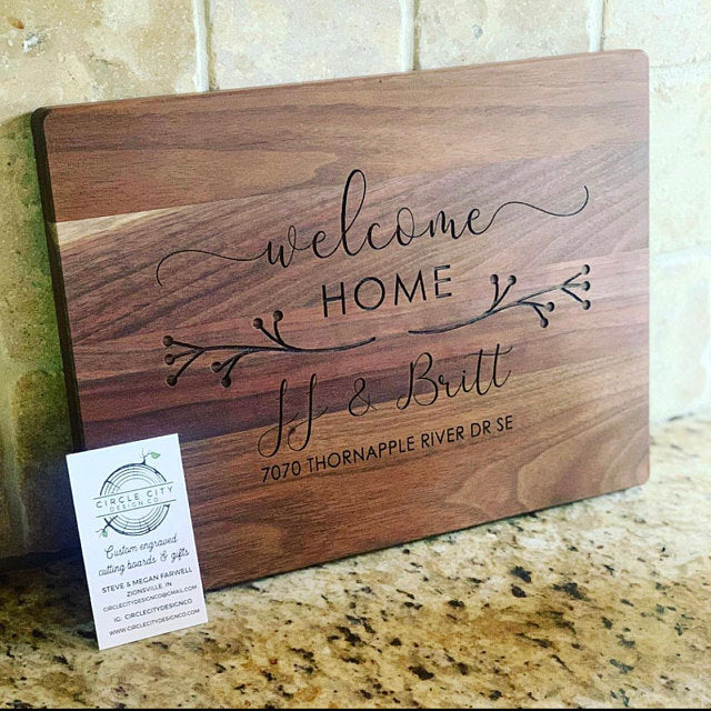 Housewarming Gift, New Home Gift, Personalized Cutting Board, Wood Cutting Board, Logo Advertising