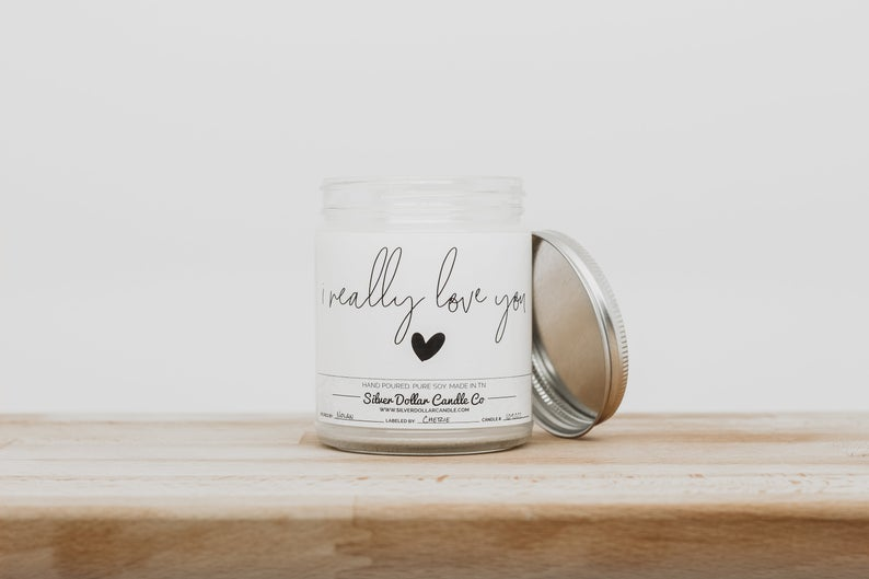 I Really Love You - Scented Candle for Valentine's Day | Gift for her, Girlfriend gift, love candle, valentines day, boyfriend, for her