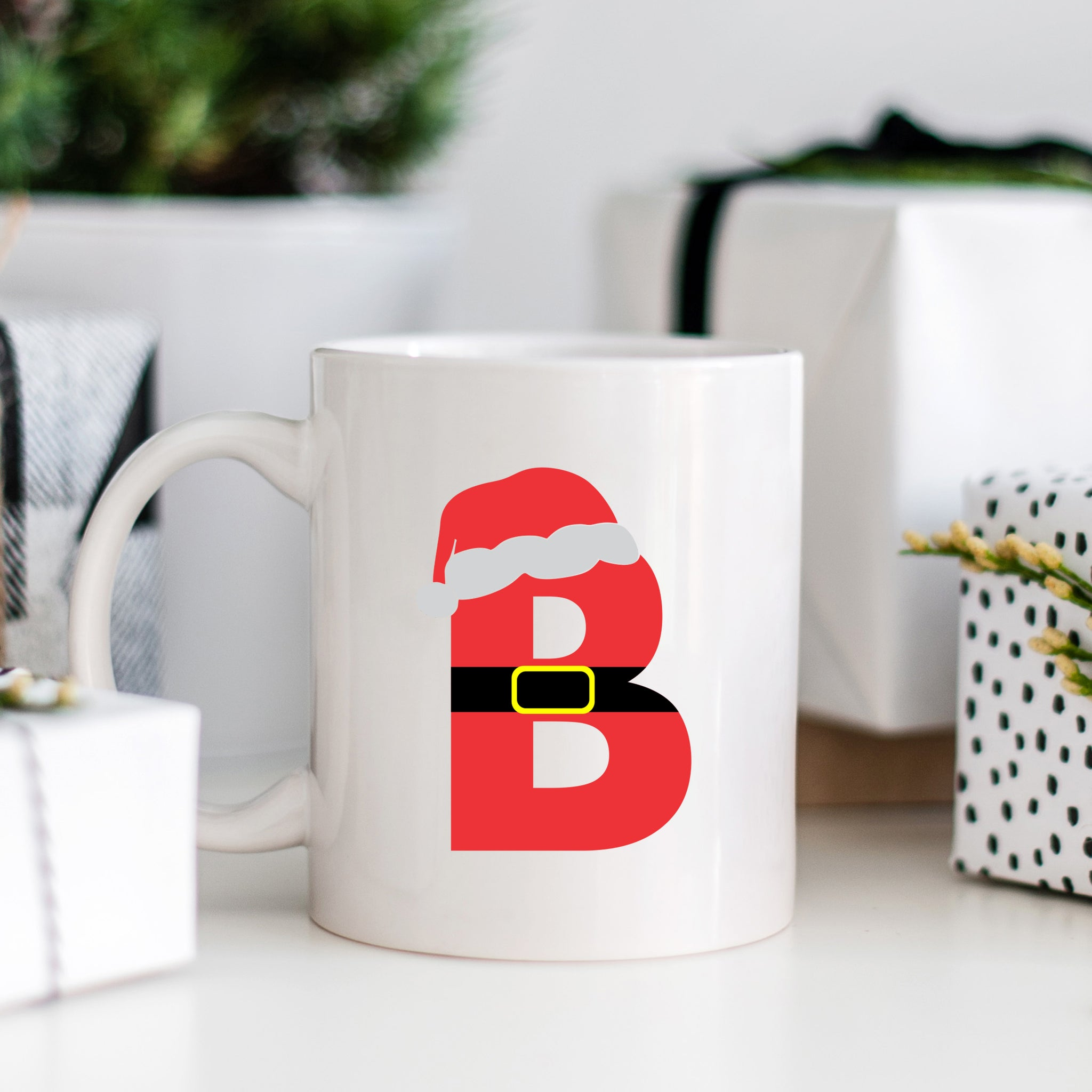 Santa Letter Monogram Mugs - Christmas Monogram Mugs - Pretty Collected