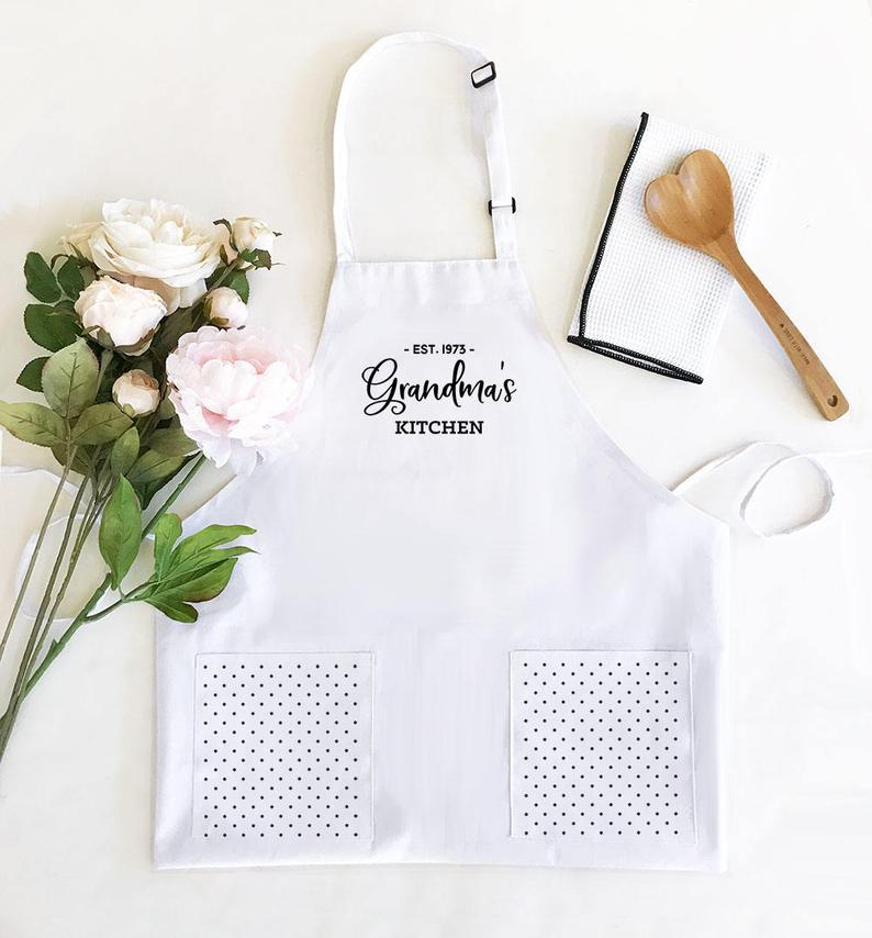 Kitchen Gifts for Her - Hostess Gift Ideas - Personalized Apron for Women - Baking Gift Cooking Gift Custom Aprons Personalized